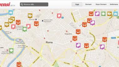 La mappa virtuale degli eventi