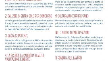 I 12 punti di Renzi