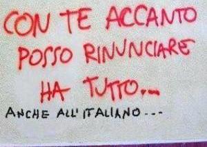 Italiano. Scusate, Itagliano