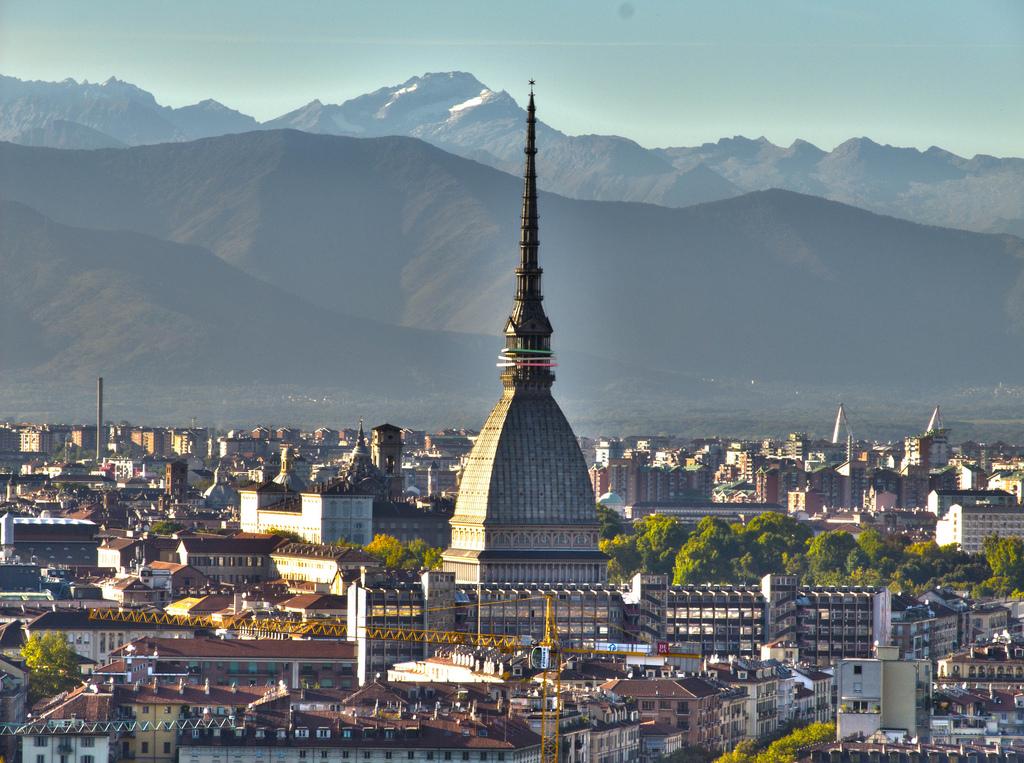 Torino and Mole Antonelliana from Villa della Regina
